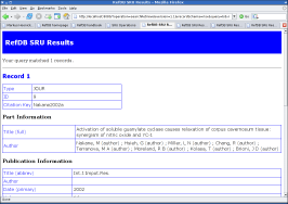 RefDB SRU searchRetrieve result (risx)